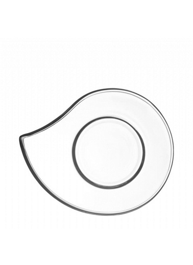 Lav Eva 12 Li Cam Çay Bardağı Altlığı - Çay Tabağı Renkli